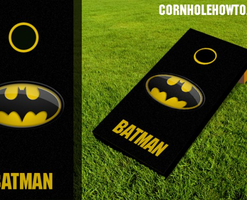 Batman cornhole board
