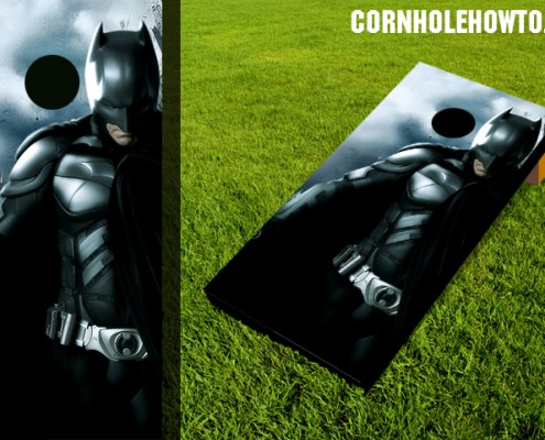 Batman2 cornhole board