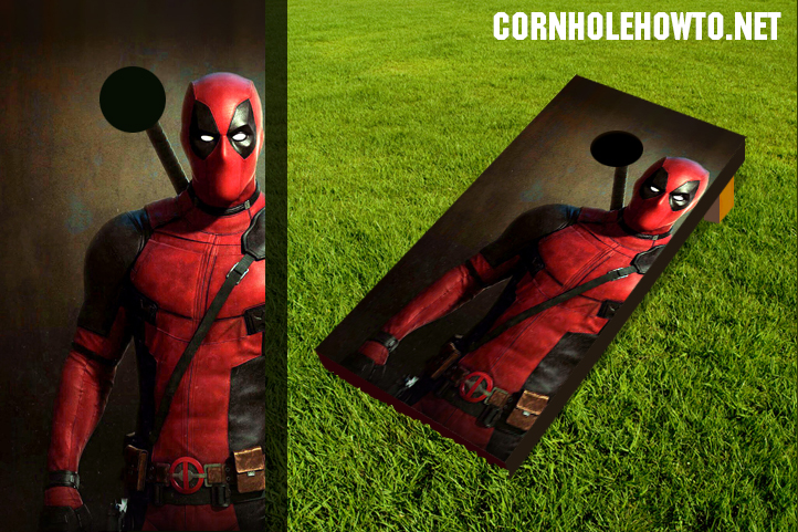 Deadpool cornhole board