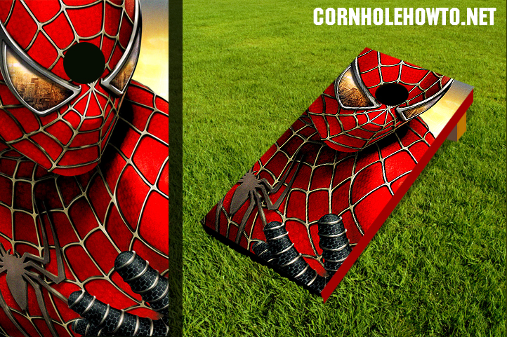 Spider man cornhole board