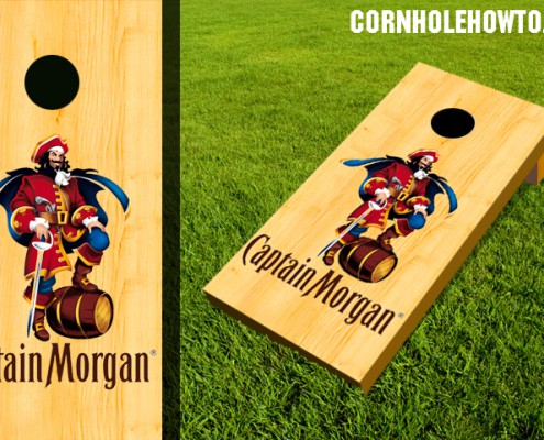 Captain Morgan cornhole board