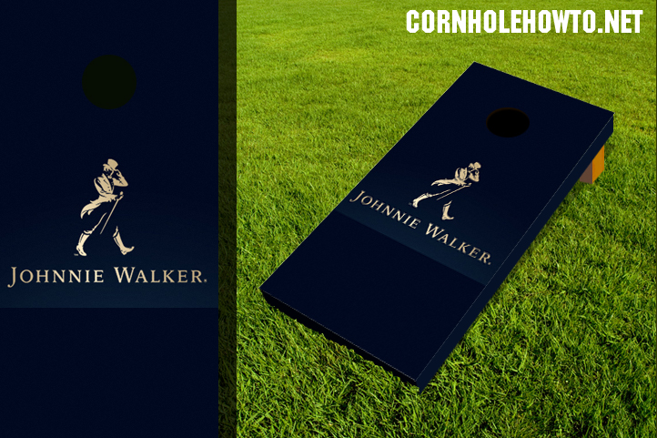 Johnnie Walker cornhole board